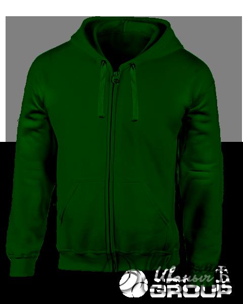 Темно-зеленая толстовка с капюшоном