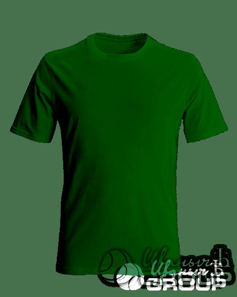 Темно-зеленая мужская футболка