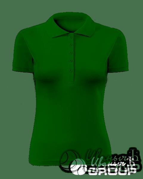 Темно-зеленое поло женское