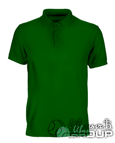 Темно-зеленое поло премиум