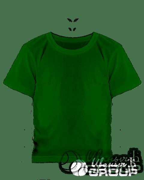 Темно-зеленая детская футболка
