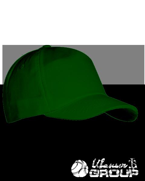 Темно-зеленая бейсболка на липучке