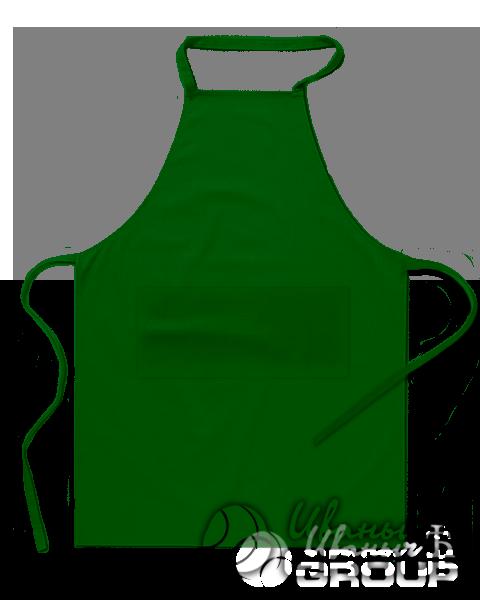 Темно-зеленый фартук на заказ