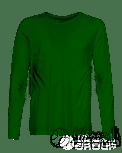 Темно-зеленый лонгслив на заказ