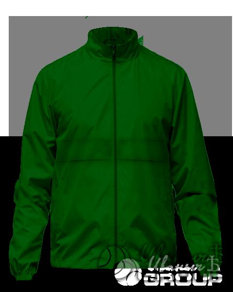 Темно-зеленая ветровка на заказ