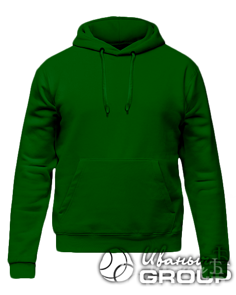 Темно-зеленое промо худи