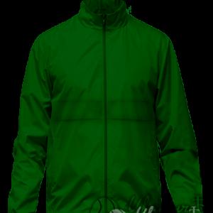 Темно-зеленая ветровка