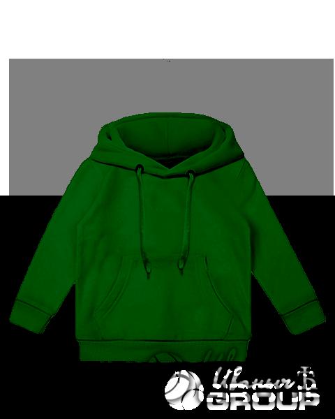 Темно-зеленое детское худи