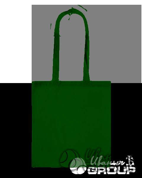 Темно-зеленая сумка холщевая