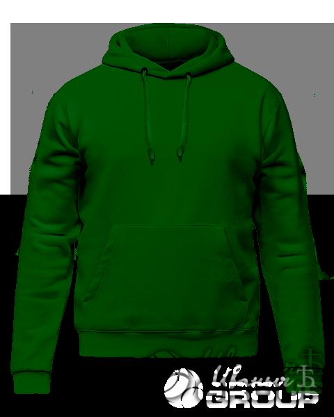 Темно-зеленое худи премиум