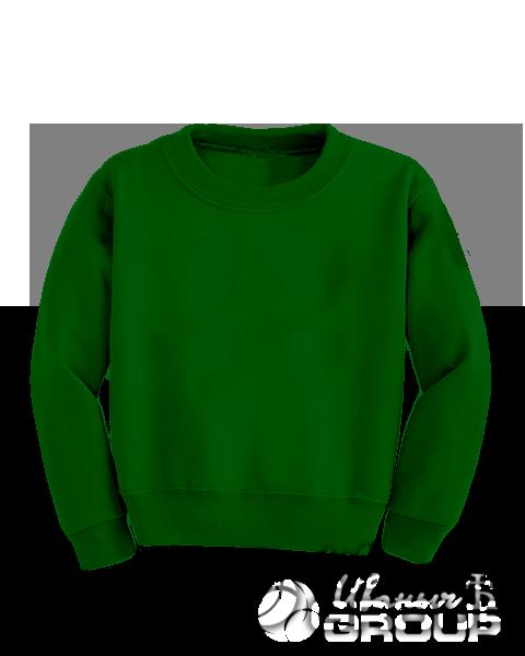 Темно-зеленый свитшот детский