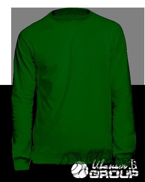 Темно-зеленый свитшот на заказ
