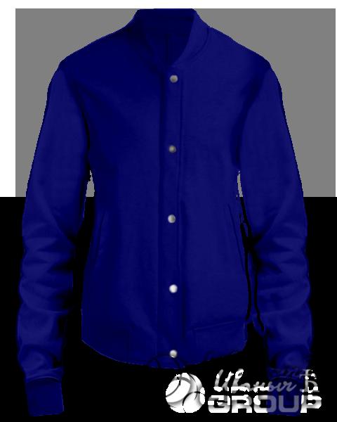 Темно-синий бомбер женский
