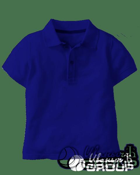 Темно-синее поло детское