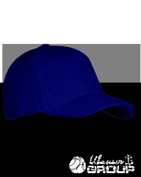 Темно-синяя бейсболка на липучке