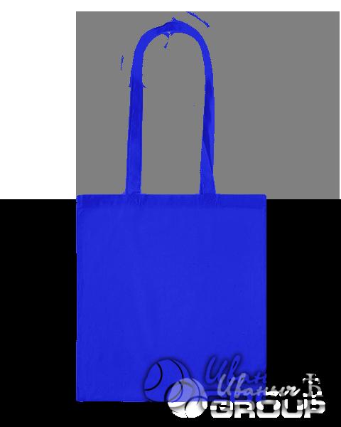 Синяя сумка холщевая