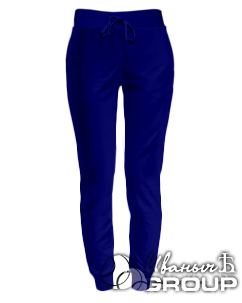 Темно-синие штаны женские