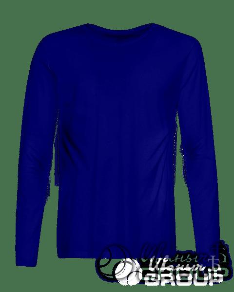 Темно-синий лонгслив промо