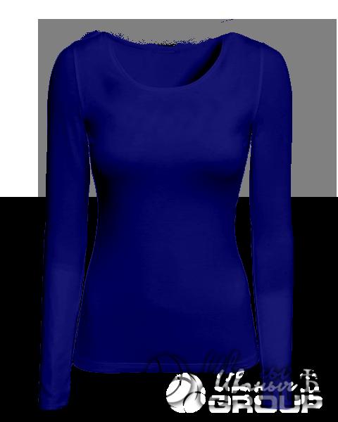 Темно-синий лонгслив женский