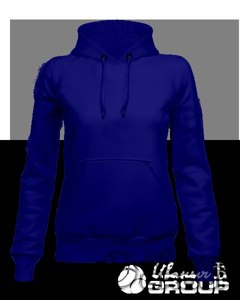 Темно-синее женское худи