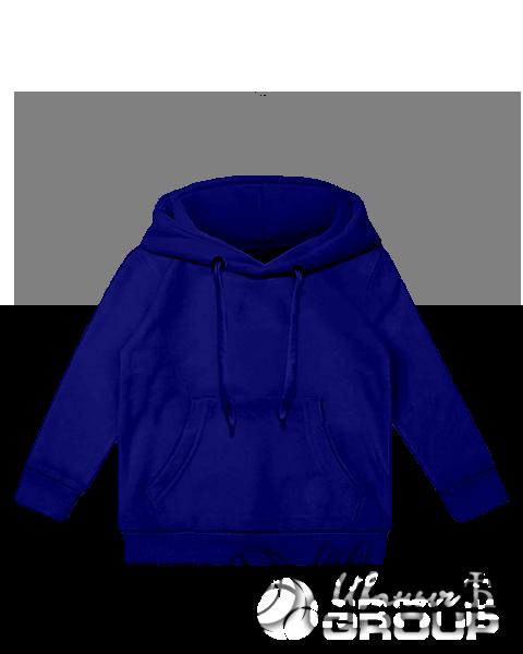 Темно-синее детское худи