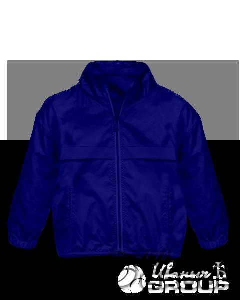 Темно-синяя ветровка