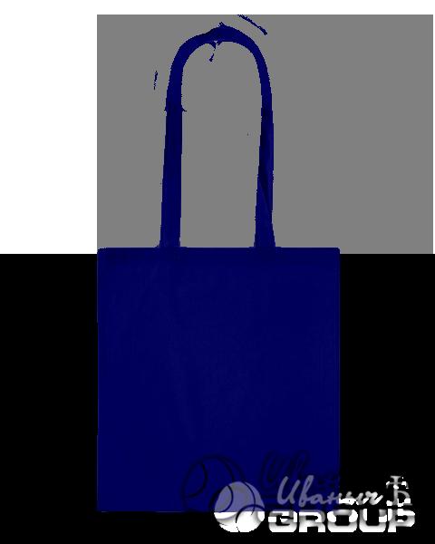 Темно-синяя сумка холщевая