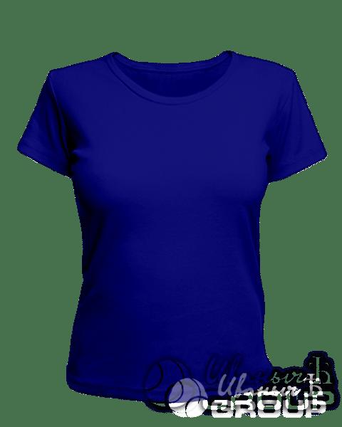 Темно-синяя женская футболка для беременных