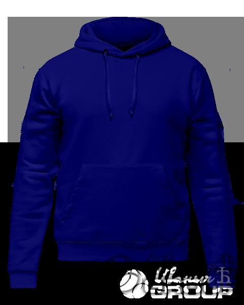 Темно-синее худи премиум
