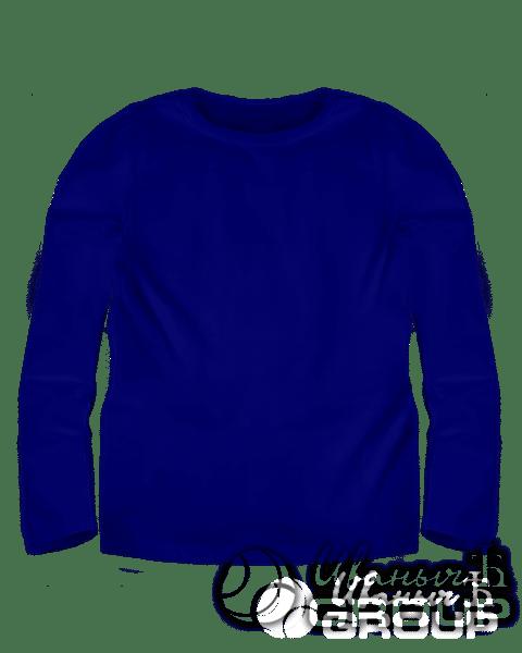 Темно-синий лонгслив детский