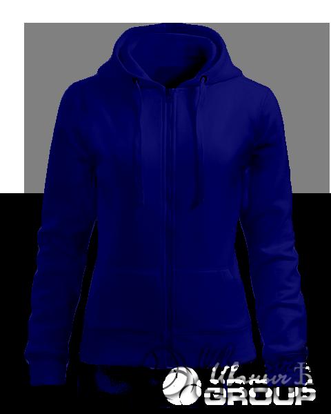 Темно-синяя толстовка женская