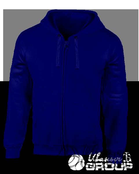 Темно-синяя толстовка с капюшоном