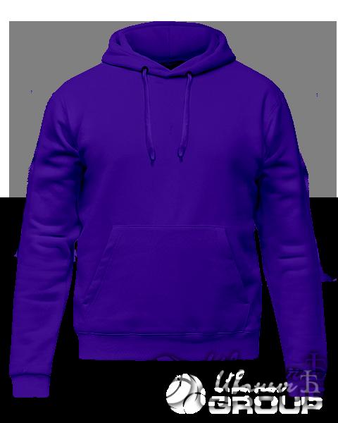 Фиолетовое худи