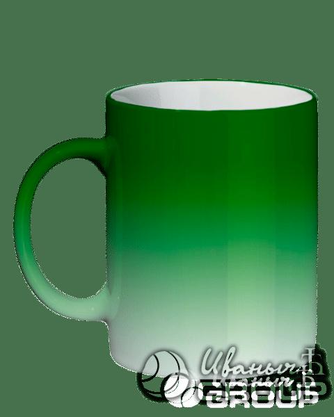 Кружка зеленый хамелеон