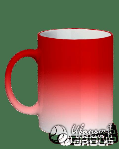 Кружка красный хамелеон