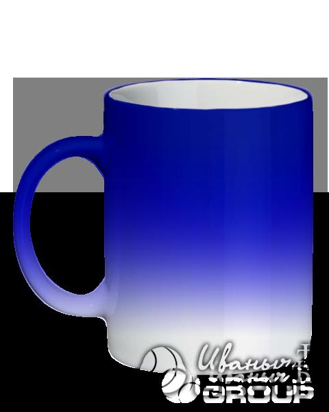 Кружка синий хамелеон