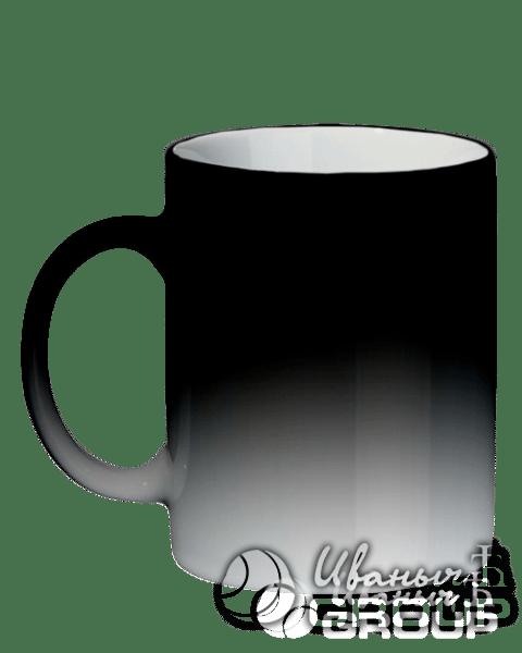 Кружка черный хамелеон