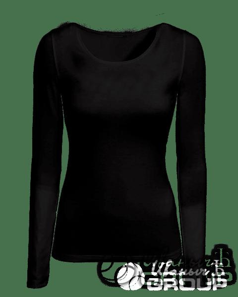 Черный лонгслив женский