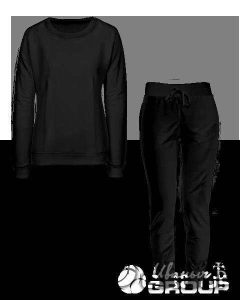 Черный костюм женский
