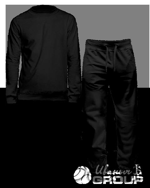 Черный костюм мужской