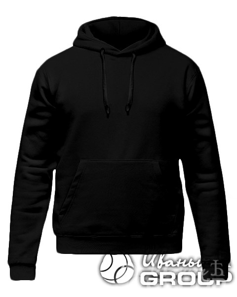 Черное худи премиум