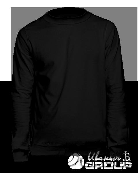 Черный свитшот мужской