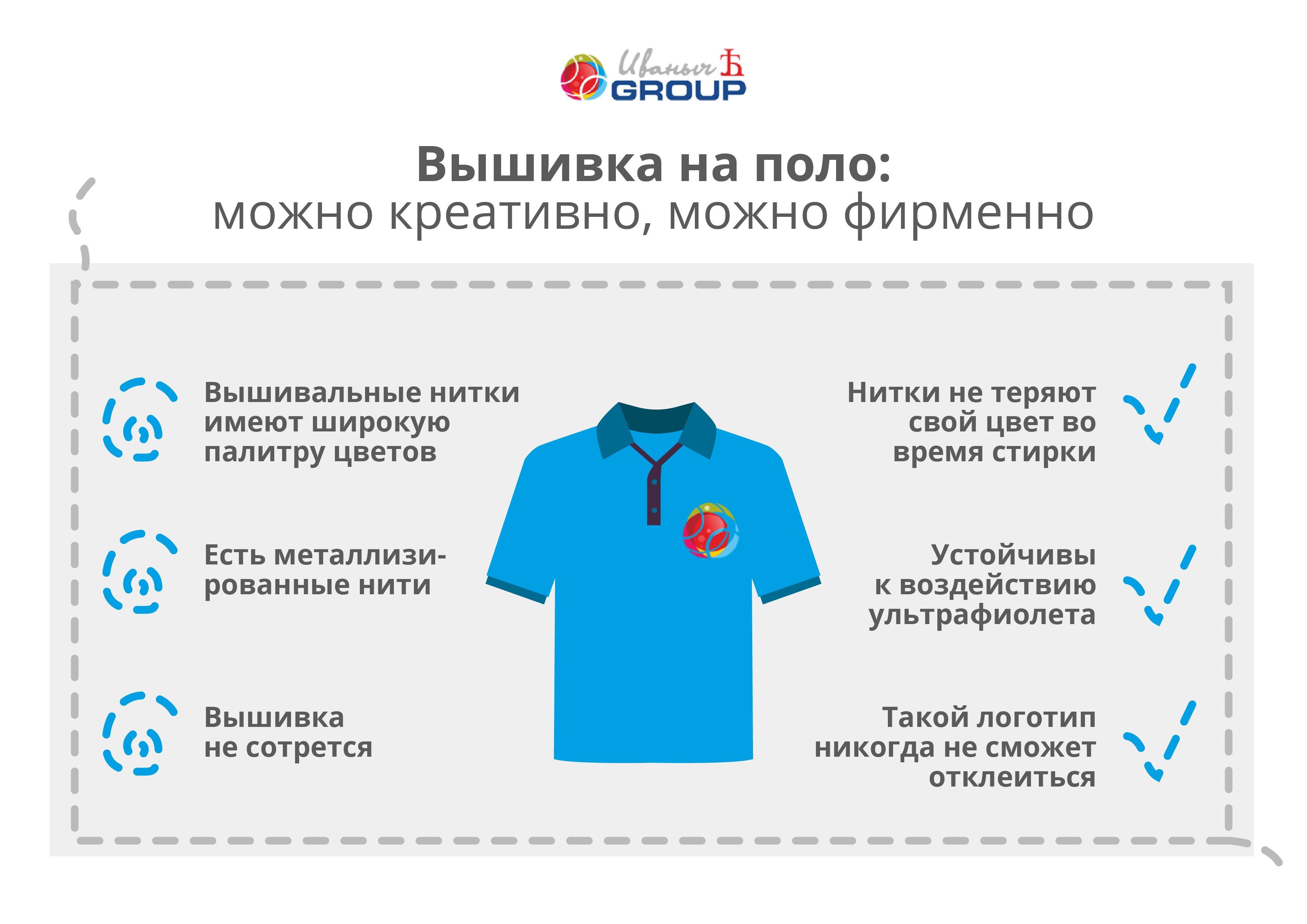 Рубашки-поло с вышивкой - ярко и стильно