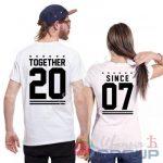 парные футболки с фамилиями и номерами