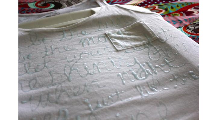 Как снять надпись с футболки