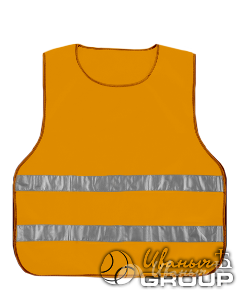 Сигнальный жилет детский оранжевый