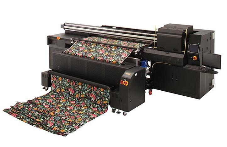 Фото используемого в промышленности принтера для печати на холсте