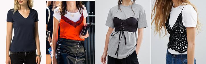 Фото модных классических футболок для девушек