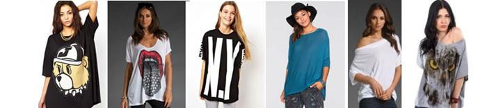 Фото оверсайз-моделей футболок для девушек