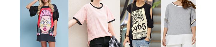 Фото модных футболок для девушек с удлиненными рукавами
